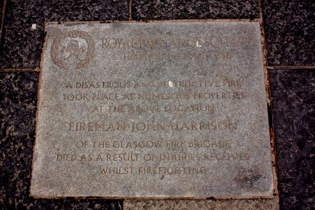 Eye Spy Glasgow: Plaque marking the