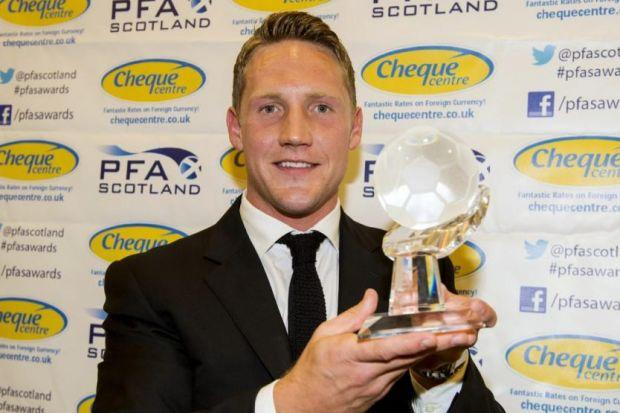 Top Bhoy...Kris Commons capped a brilliant season by being named PFA Premiership Player of the Year