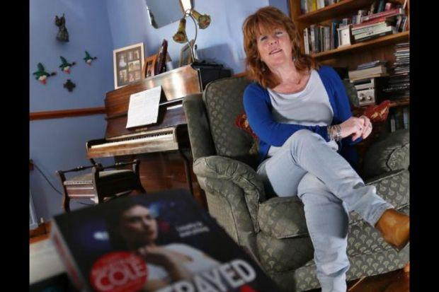 Scottish author Anna Smith whose latest Rosie Gilmour thriller Betrayed centres on the UVF and terror group's drug-smuggling activities