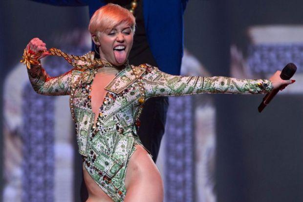 Miley shocked the audience at the SSE Hydro
