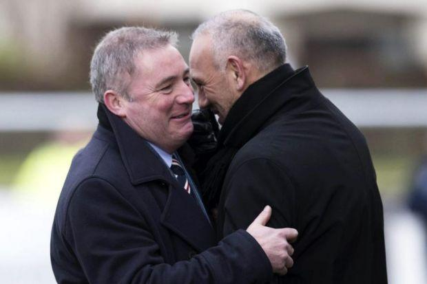 Ally McCoist and Mark Hateley are former Rangers strike partners