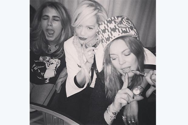 Say What? You can sit with Lindsay Lohan, Rita Ora and Cara Delevingne