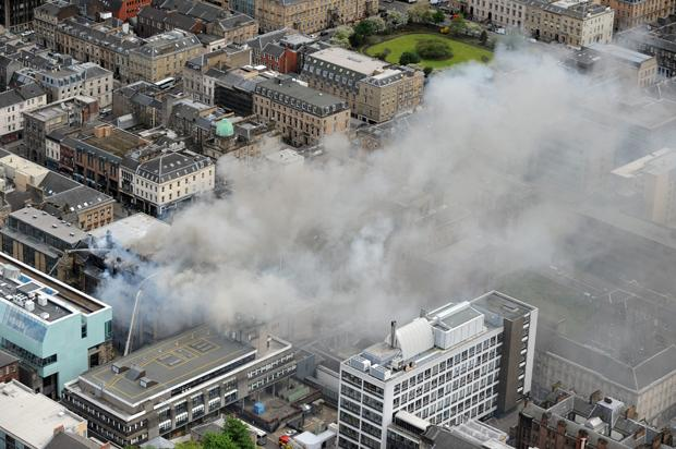 Investigation launched into cause of Glasgow Art School fire