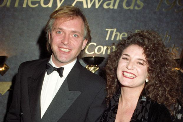Rik Mayall with his wife Barbara