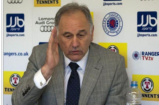 Proper Charlie...Green forged an uneasy alliance with Walter Smith which quickly fell apart as did his relationship with Rangers boss Ally McCoist and then the fed-up fans turned their back on him after a string of negative headlnes