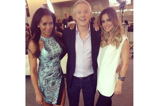 Cheryl Cole, Mel B and Louis Walsh get X-Factor ready