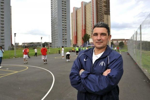 Charlie Who Runs A Successful Football Academy At Toryglen Has Now Turned Soccert