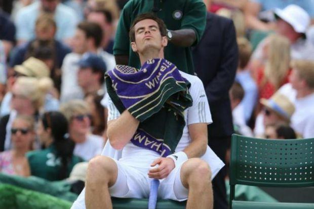 Murray completed his 15th consecutive win at Wimbledon