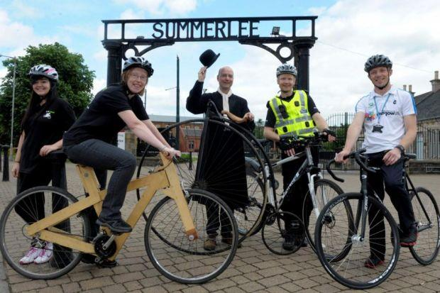 Lauren Maybury and Morag Prach from 'I am Bikes', Justin Parkes, PC David Wandrum and Jake Loveatt