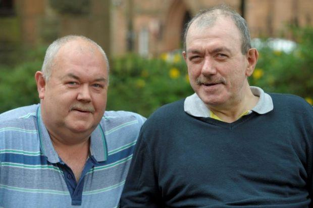 Donald and Patrick McFadden are £60 a week better off after using the service to access benefits