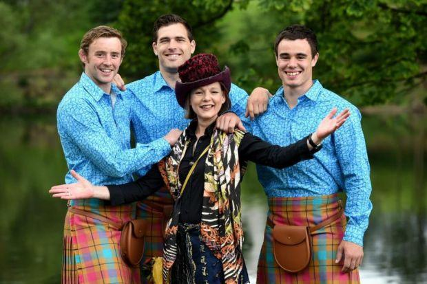 Jilli Blackwood unveils her design with Team Scotland competitors