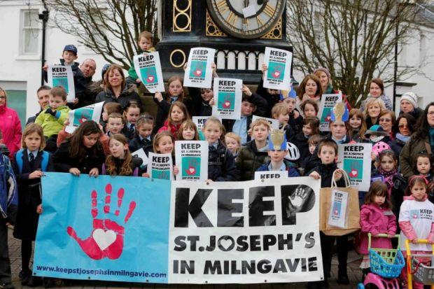 Protests were held in a bid to stop the closure of St Joseph's