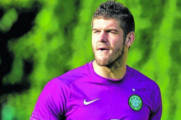 Fraser Forster made his return for Celtic in his first match since the World Cup Finals