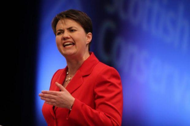 Ruth Davidson has urged voters to vote No in the referendum
