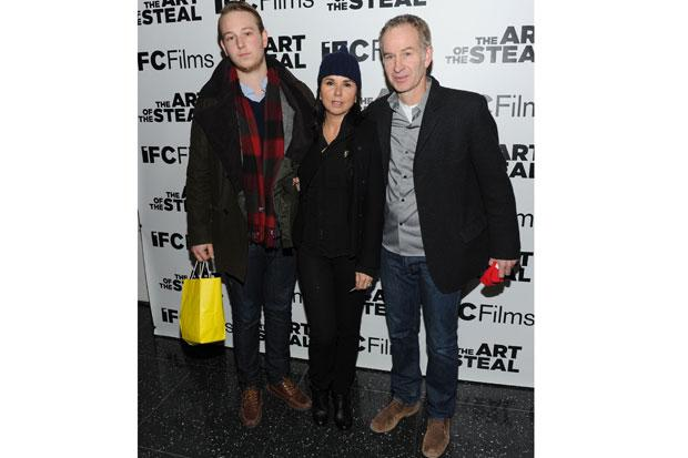 Kevin McEnroe, Patti Smyth and John McEnroe attend the premiere of 'The Art of The Steal' at MOMA on February 9, 2010 in New York City. Picture Getty.