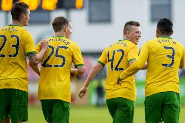 Back to the future ... Callum McGregor is tipped to be given a run in the first team after his goal heroics in Iceland