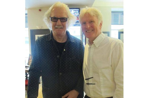 Comedian Billy Connolly pops into Glasgow hairdressers