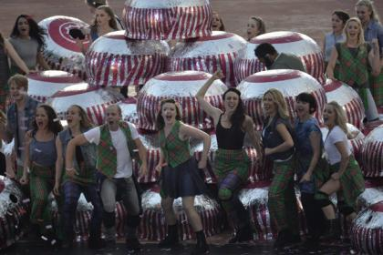 Opening ceremony featured dancing Tunnock's teacakes.