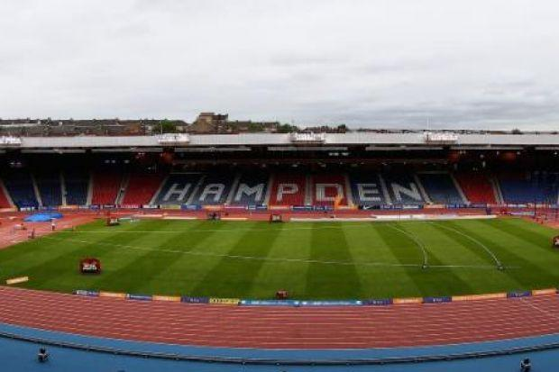 Hampden Park has been turned into an athletics venue