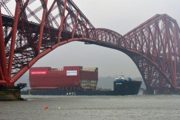 The 8000 tonne hull section of HMS Prince of Wales left Glasgow for the Fife dockyard last Monday
