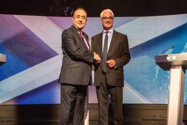 Alex Salmond and Alistair Darling took part in television debate