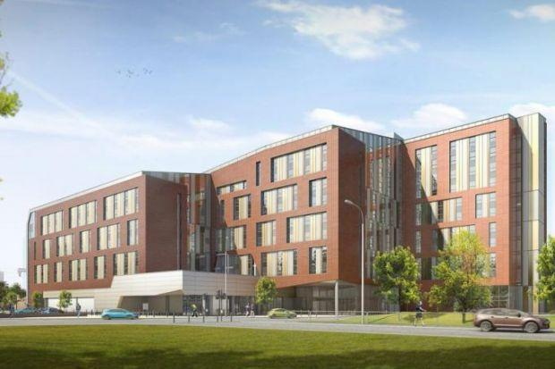 An artist's impression of how the new student accommodation will look