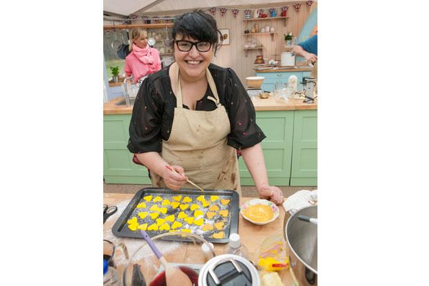 Claire Goodwin, who is the first contestant to leave the fifth series of The Great British Bake Off.