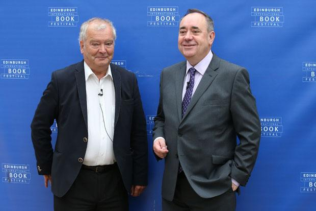 Scotland's First Minister Alex Salmond (right) at the Edinburgh International Book Festival with Sir Tom Devine.
