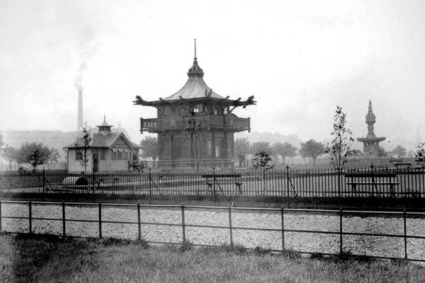 Chinese pagoda on Glasgow Green