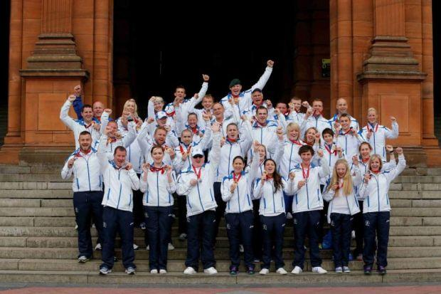 Team Scotland athletes thank the fans for their amazing support
