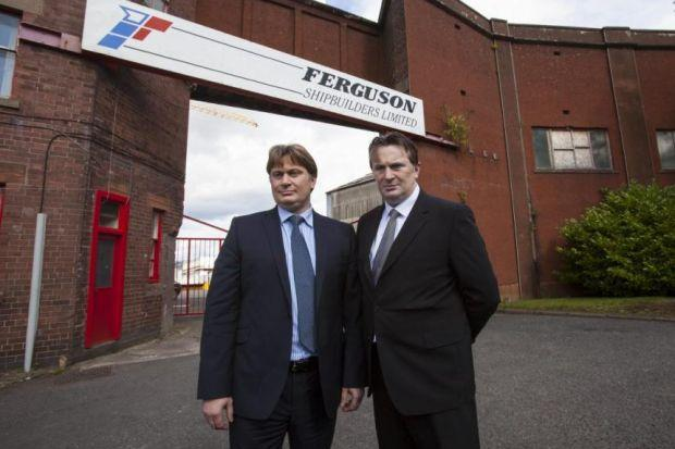James and Sandy Easdale visited the Greenock Yard. Picture: Mark Gibson