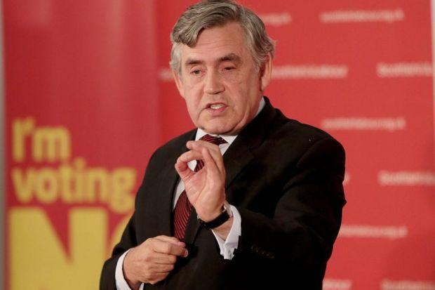 Gordon Brown makes his points at the Emirates Arena                  Picture: Mark Mainz