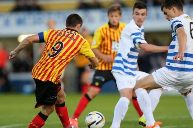 Kris Doolan scored Thistle's winner against Morton