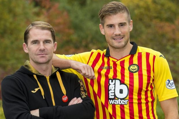 Shoulder to lean on...Frederic Frans is delighted to be working with Thistle boss Alan Archibald after the trauma of his two most recent clubs