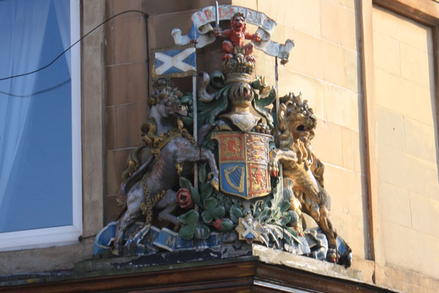 Eye Spy Glasgow: The southside banking coat of arms that reminds us of the crime of the century