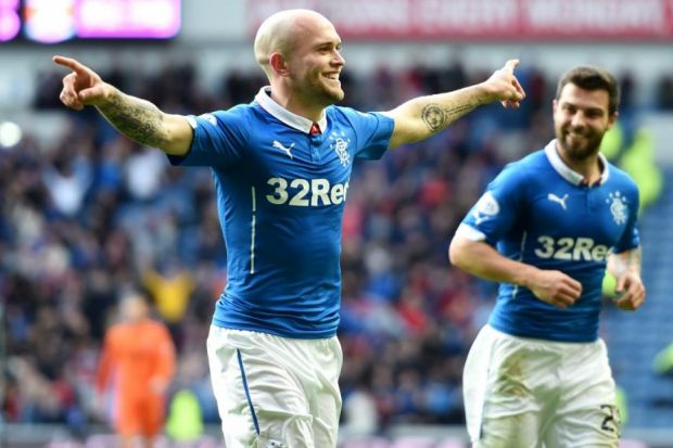 Nicky Law's two goals drove Rangers to victory against Kilmarnock