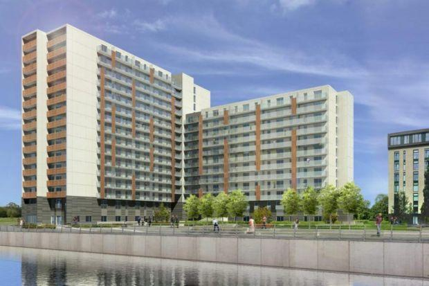 7ec123407 An artist s impression of the Dandara flats at Glasgow harbour