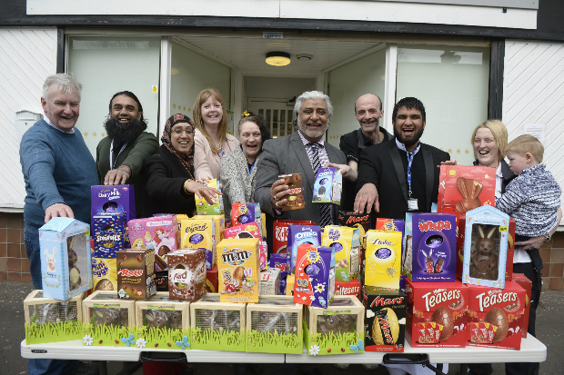 Easter treats come early for the foodbank families