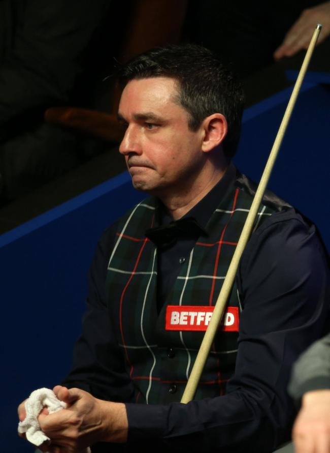 Alan McManus lost 10-5 against Ali Carter in the first round of the Betfred World Snooker Championship at the Crucible