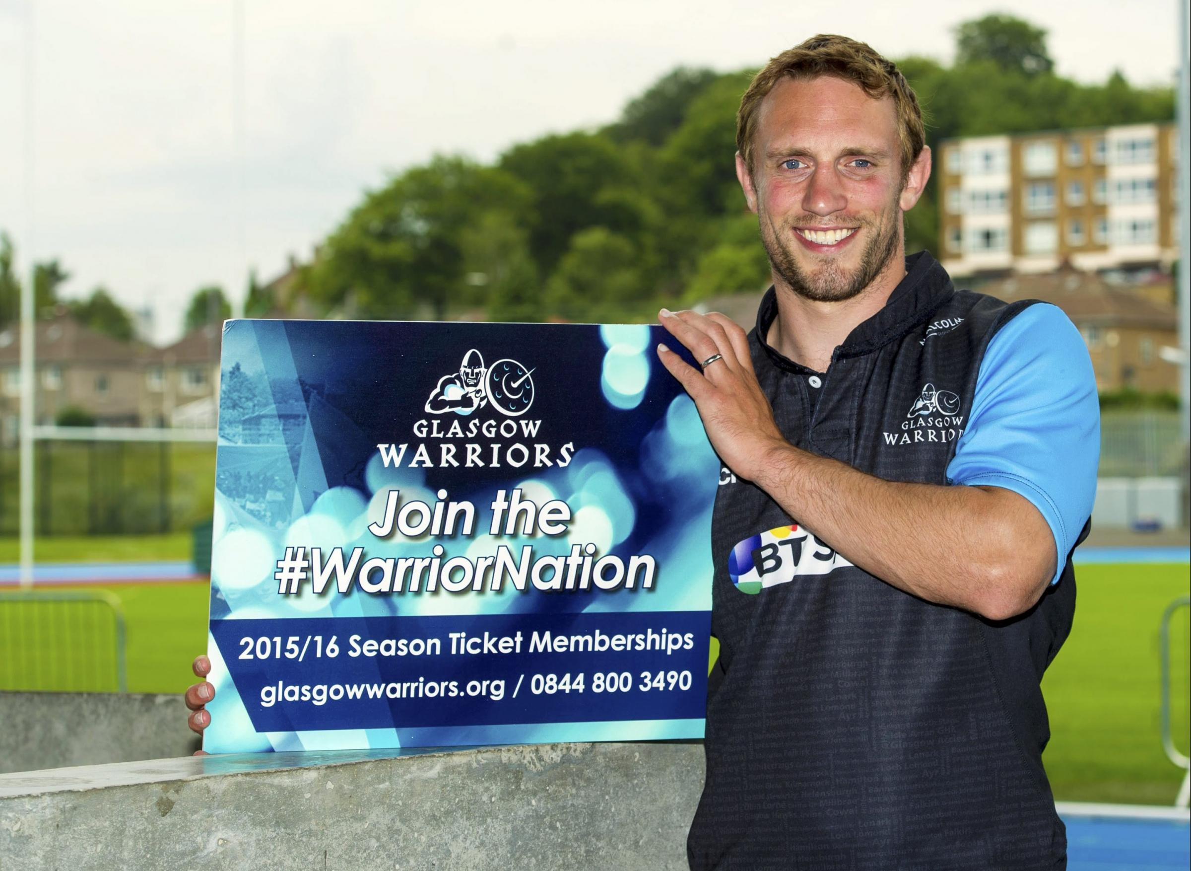Glasgow Warriors star Mike Blair promotes the 2015/2016 season ticket membership, which has now reached 3,200