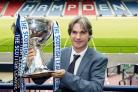 06/07/15.HAMPDEN - GLASGOW.Former Clyde star Joe Miller attends the draw of the first round of the Scottish League Cup.. (31205113)