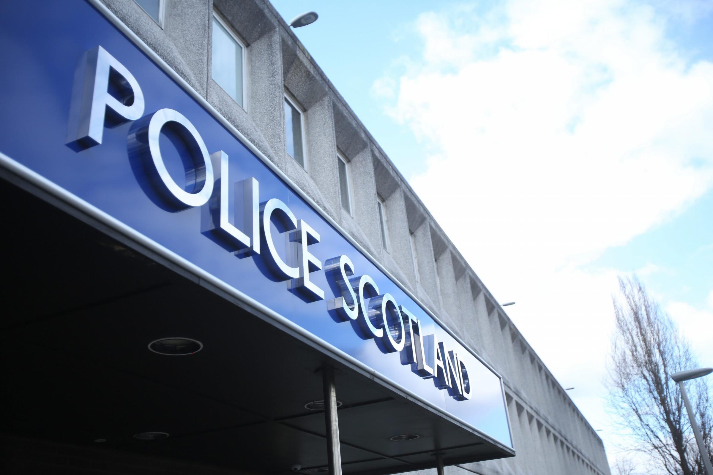 Stirling - March 30: A general view of the new Police Scotland sign outside the Stirling Police HQ March 30, 2013 in Stirling. (Photo by Mark Mainz).