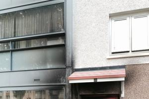 Families flee after Maryhill flats torched