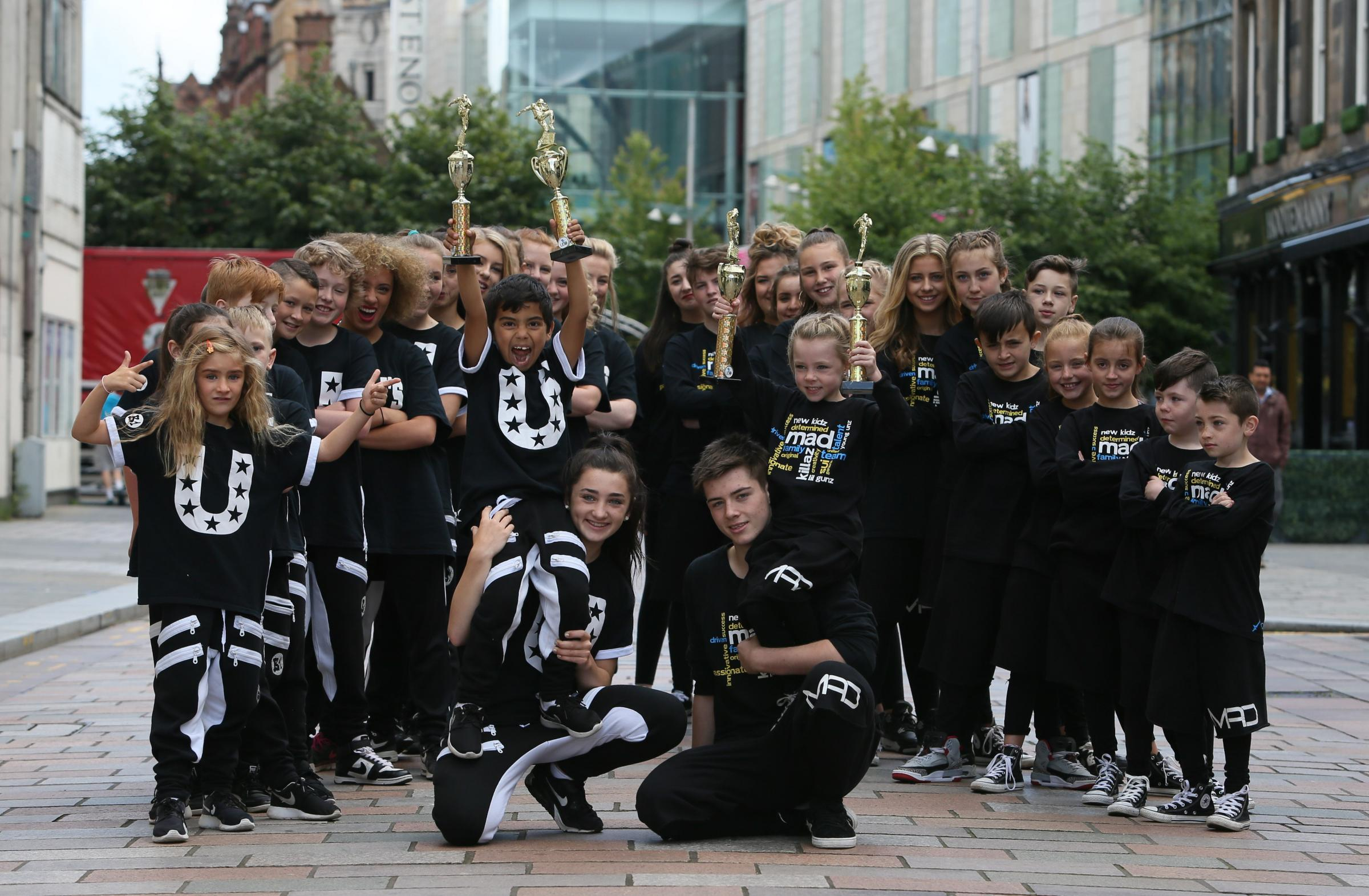 Urbaniks dance group from east and west Dunbartonshire and Mad studios from Coatbridge who took part in the St Enoch's event.