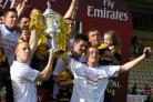 Colin Spence (right), along with team-mate Gavin Collins, lifted the Emirates Scottish Junior Cup with Auchinleck Talbot after their 1-0 win over Linlithgow Rose in 2013