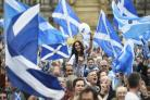 Hundreds turn out for Independence rally in Glasgow
