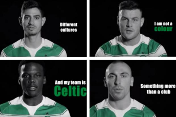 Video: Watch the stars of Celtic say NO to racism