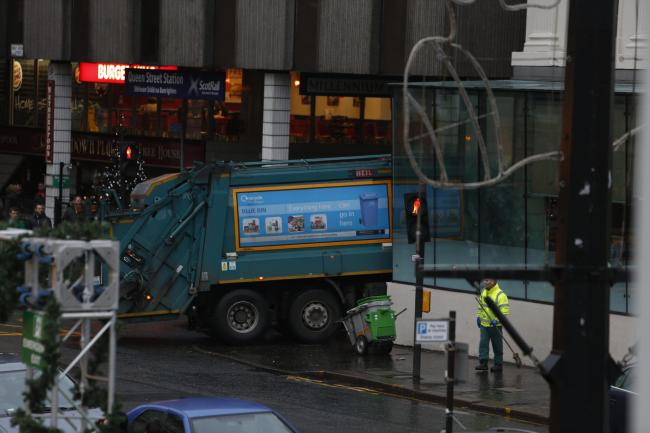 Bin lorry driver suffers suspected heart attack on the road