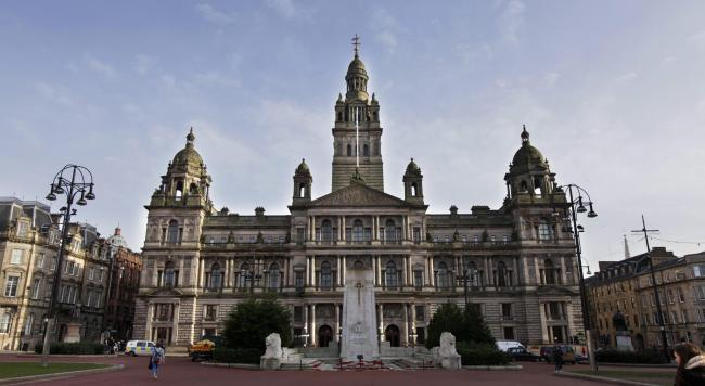 GV of the City Chambers in George Square, Glasgow.....Photograph by Colin Mearns..7 February 2012.