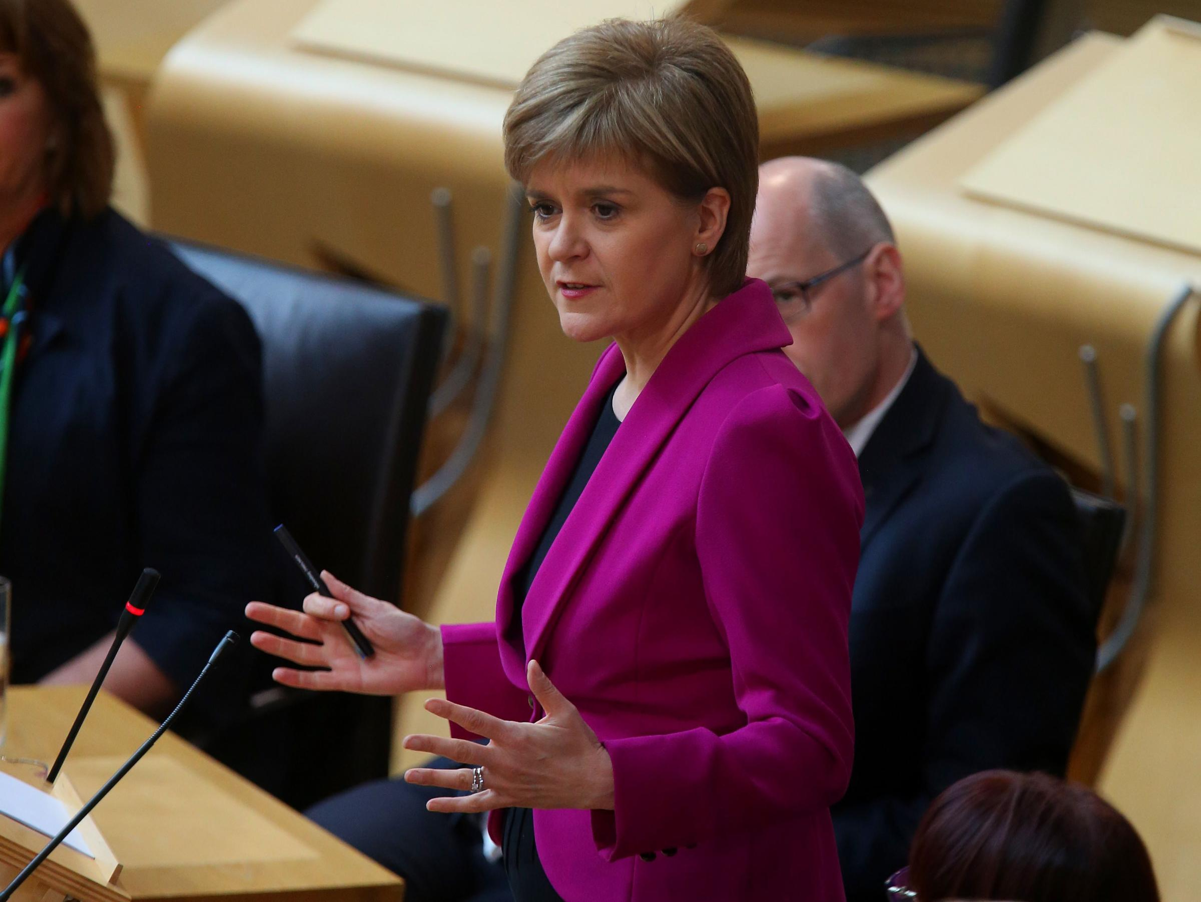 First Minister Nicola Sturgeon at Holyrood